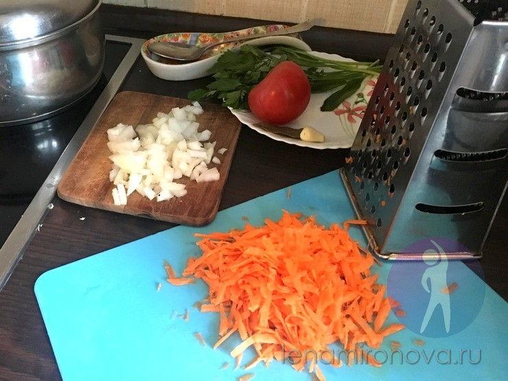 лук и морковь - заправка для супа