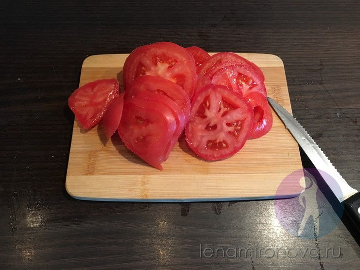 томаты нарезка