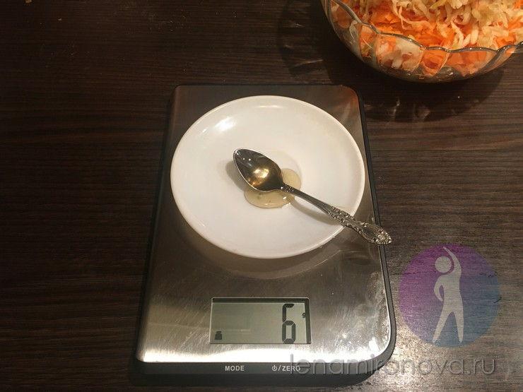 вес ложки меда