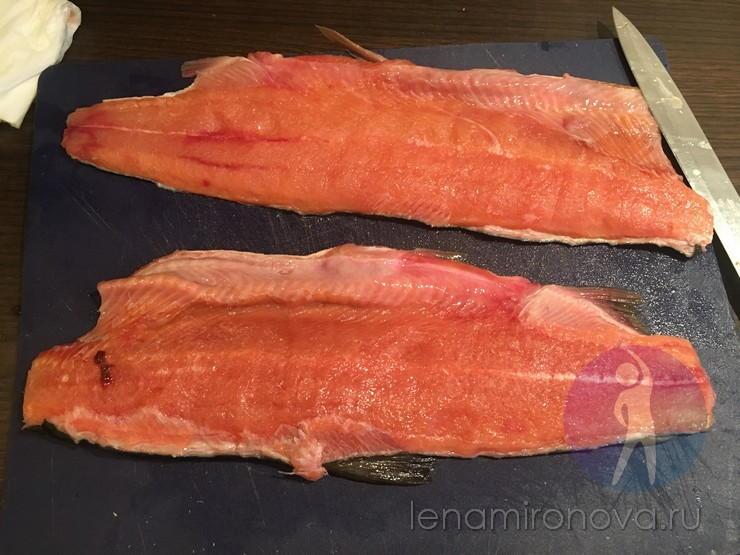 рыба без кости на шкуре