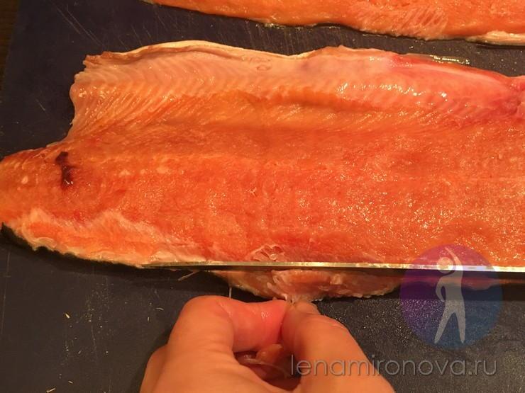 удаление мелких рыбных костей