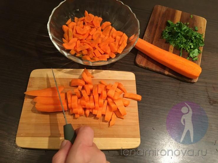 нарезка моркови крупной соломкой