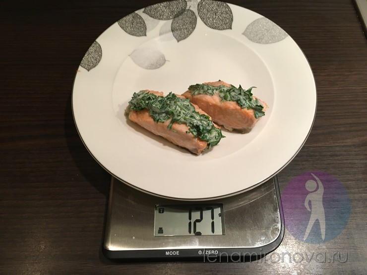 порция рыбы 127 грамм